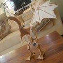 table dragon miniature(from real bone)
