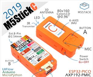 How to Program ESP32 M5Stack StickC With Arduino IDE and Visuino