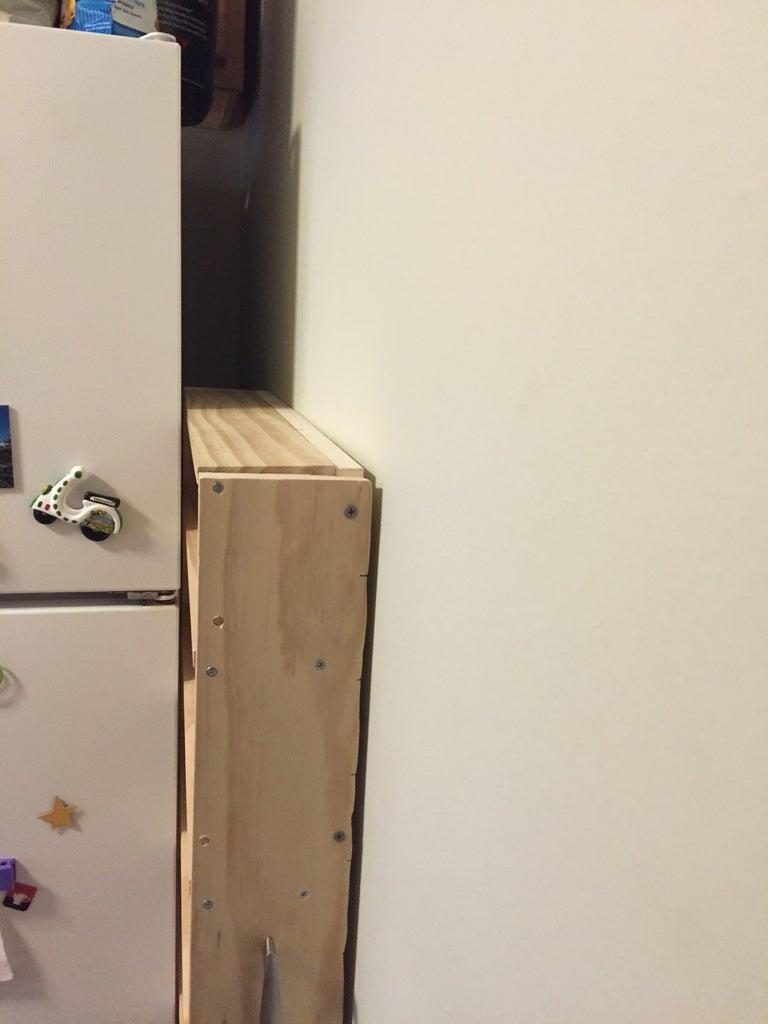 Hidden Fridge Gap Slide-Out Pantry