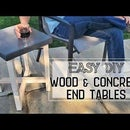DIY Concrete and Wood End Tables