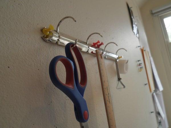 5 Minute Coat Hook/ Desk Organiser
