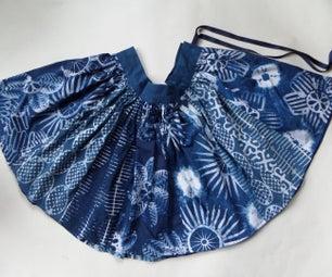 Wax Resist Printed Skirt