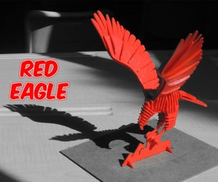 3D PUZZLE : RED EAGLE