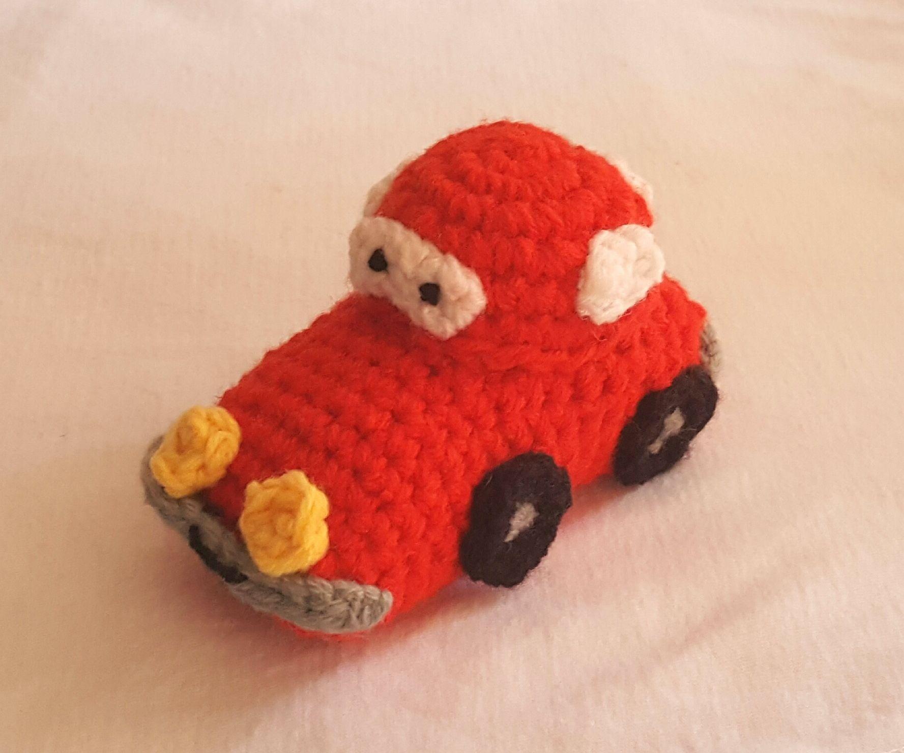 Lightning McQueen Crochet Car