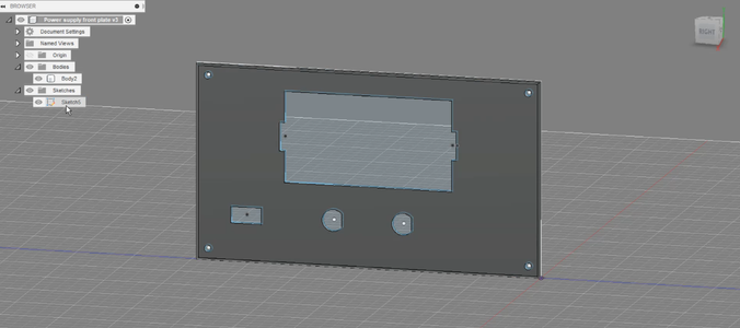 3D Printed Front Plate