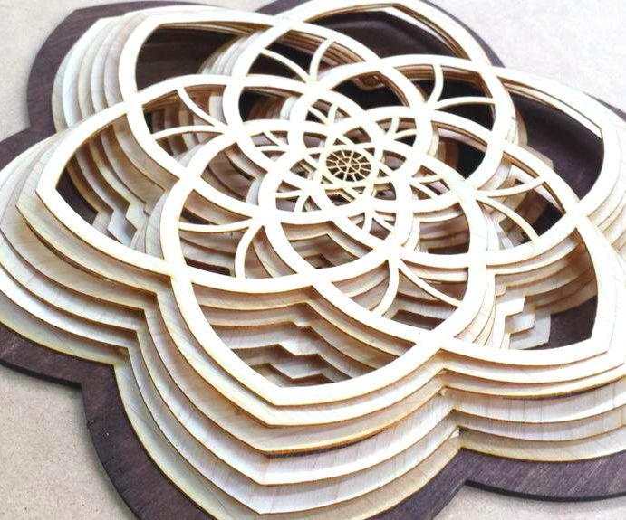 Layered Wooden Sculptures