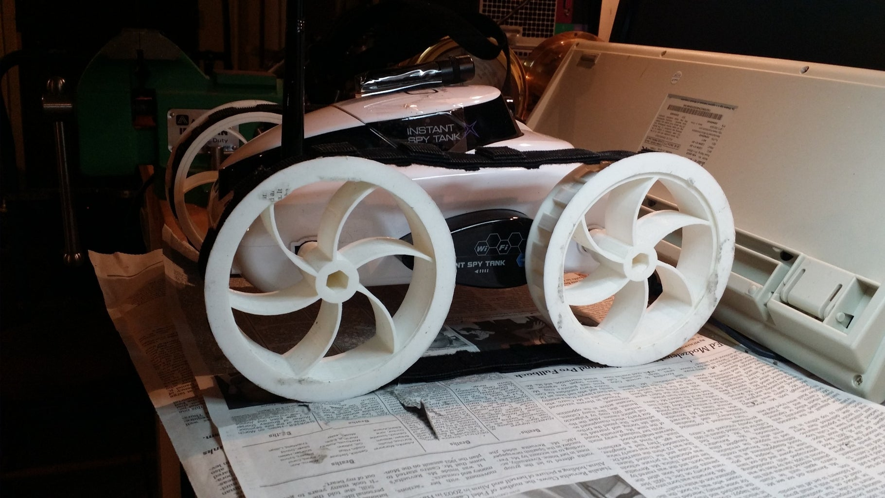 Finished Wheels - Treaded - With 1.25 Inch Ground Clearance!