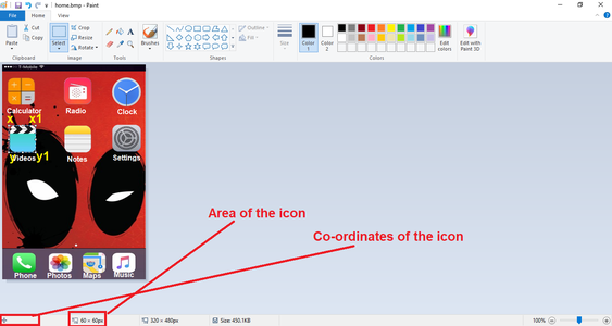 How to Find the Co-ordinates of the Icon (If You Want to Add Any Apps Only Then See This )