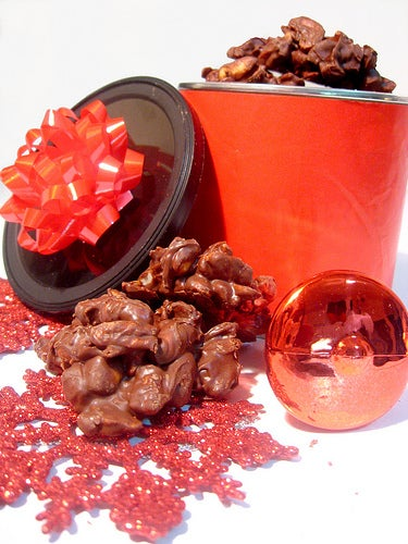 Quickest, Easiest Christmas Candy: Nut Clusters