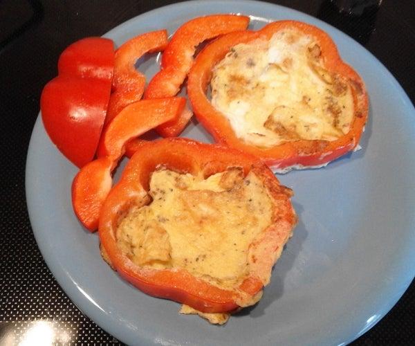 Sweet Red Pepper Framed Scrambled Egg