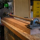 Making and using a hand crank lathe for use with a plasma cutter