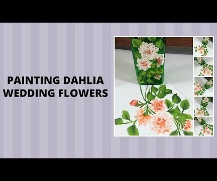 PAINTING DAHLIA WEDDING FLOWERS