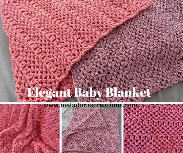 Elegant Baby Blanket - Free Crochet Tutorial
