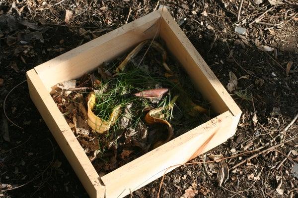 Mini Wooden Portable Compost Bin