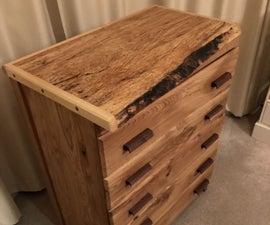 Oak, Beech & Walnut Chest of Drawers