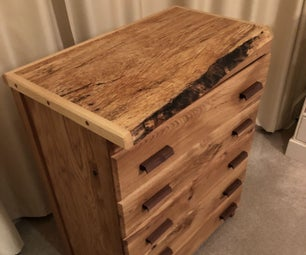 Oak, Beech & Walnut Chest of Drawers