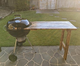 Kettle BBQ Pallet Side Table