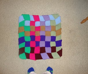 Easy Crafts With Knitted Rolls: Woven Rug