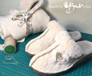 Woolie & Furry UpCycled Slippers