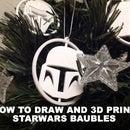3D printed Starwars baubles