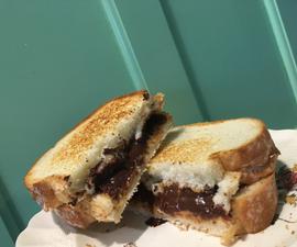 Chocolate & Peanut Butter Dessert/Snack Sandwich
