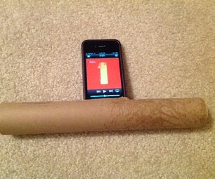 The CWoofer - a Cardboard Subwoofer for Your IPhone/iPod/Android Phone