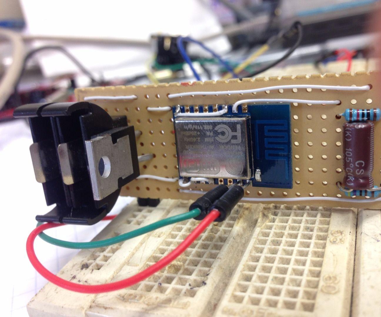 Wearable heart beat sensor ESP8266+Pulse sensor