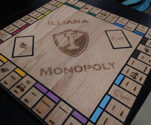 Custom Wooden Monopoly Board