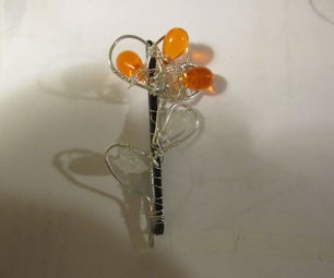 How to Wire Wrap a Flower Hairpin