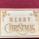 Laser Engraved Christmas Postcard