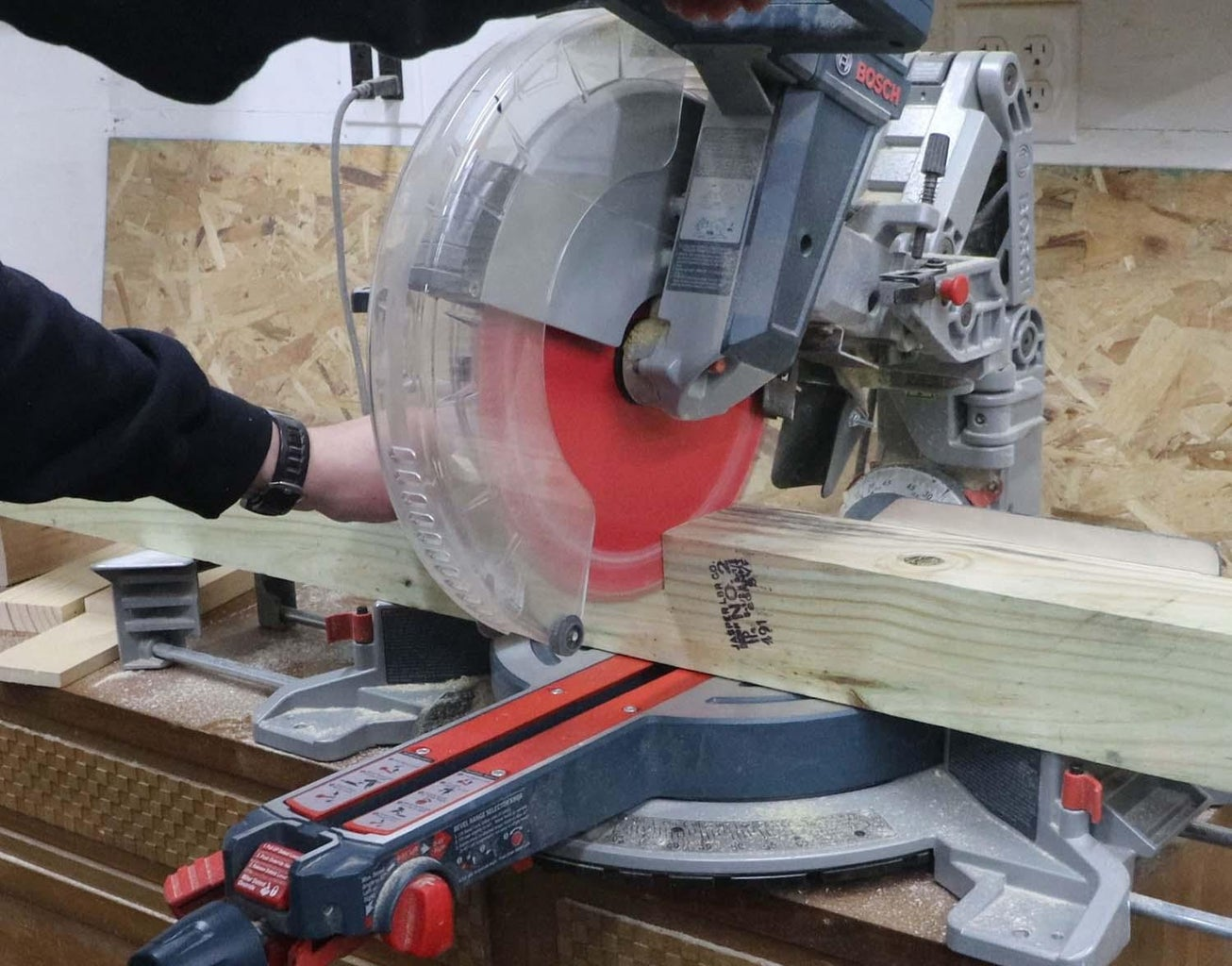 Cut Sleepers and Uprights to Length