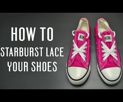 How to Starburst Lace Your Shoes