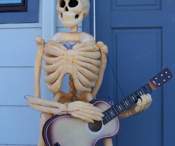 Life-size Skeleton Pumpkin Carving!