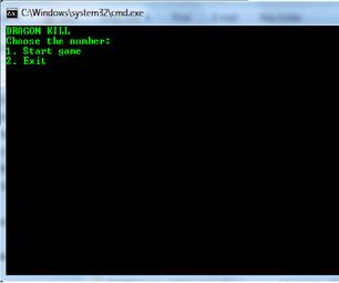 Batch File Dragon Game