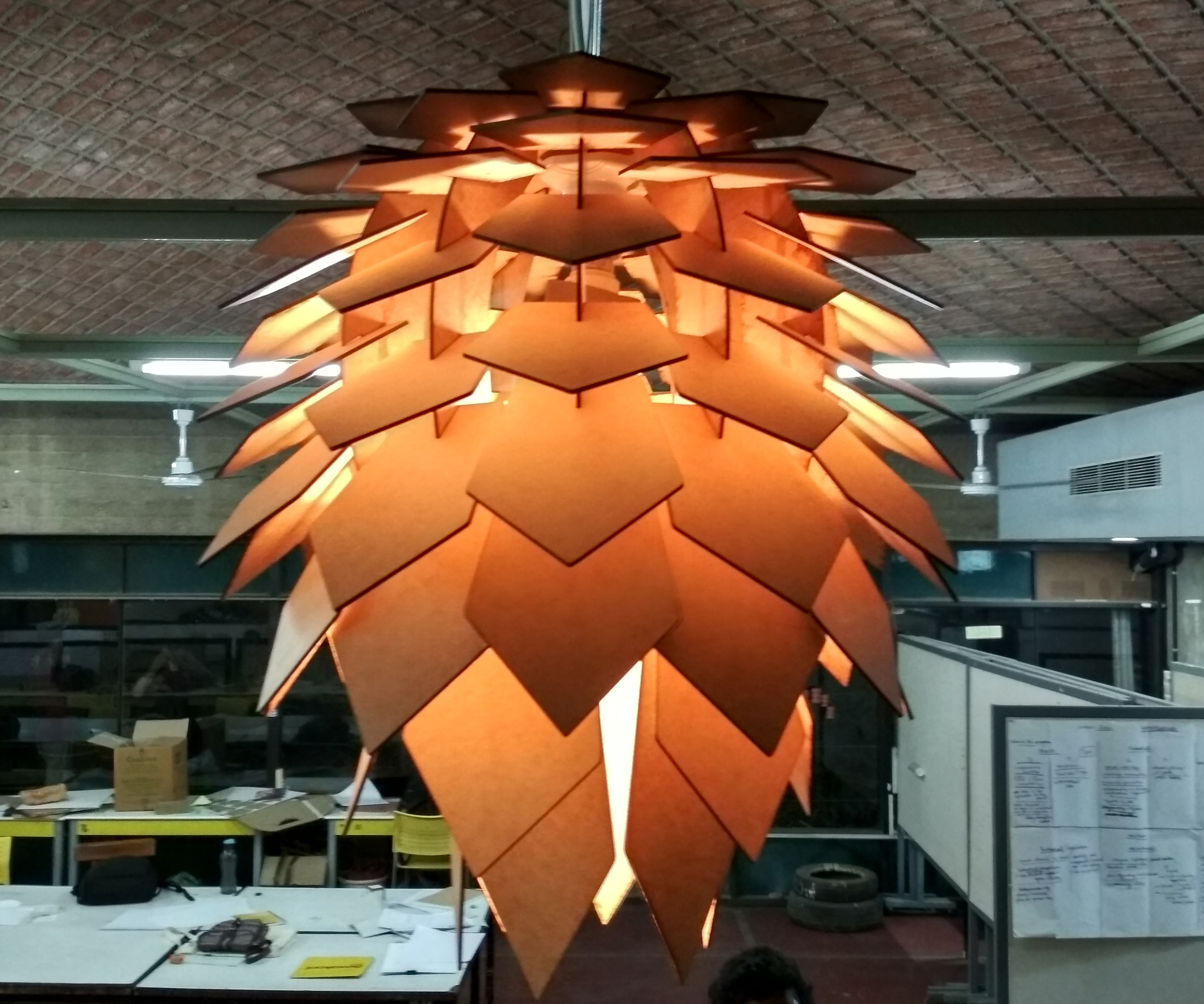How to Make a Pine Cone Chandelier