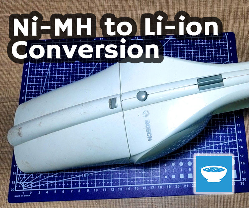 Vacuum Cleaner Ni-MH to Li-ion Conversion