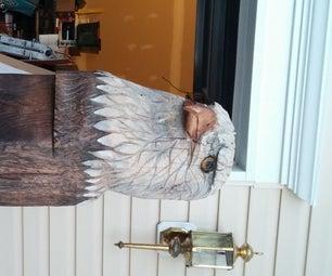 Chain Saw Carving a Eagle Head