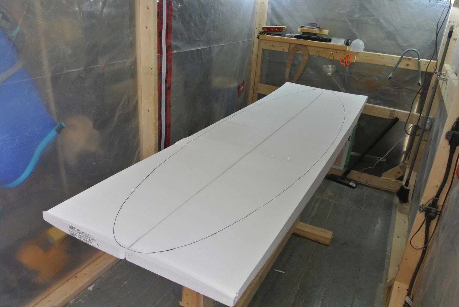 Tracing the Template on the Blank