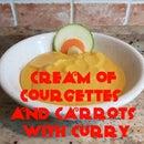 Crema de Calabacines y Zanahorias con Curry