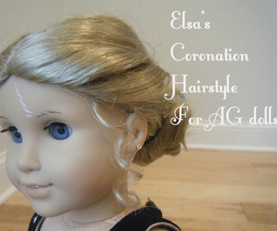 Elsa Coronation Hairstyle for American Girl Dolls