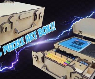 The BEST Art Storage Case Ever! New Scamander's Harry Potter Themed Laser Cut Art Case