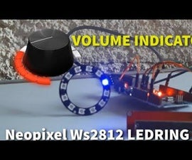 Volume Indicator Neopixel Ws2812 LED Ring & Arduino