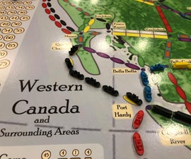 Western Canadian Map for Ticket to Ride