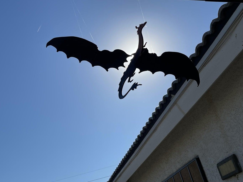 Geek on a Glowforge - Flying Dragon Mobile