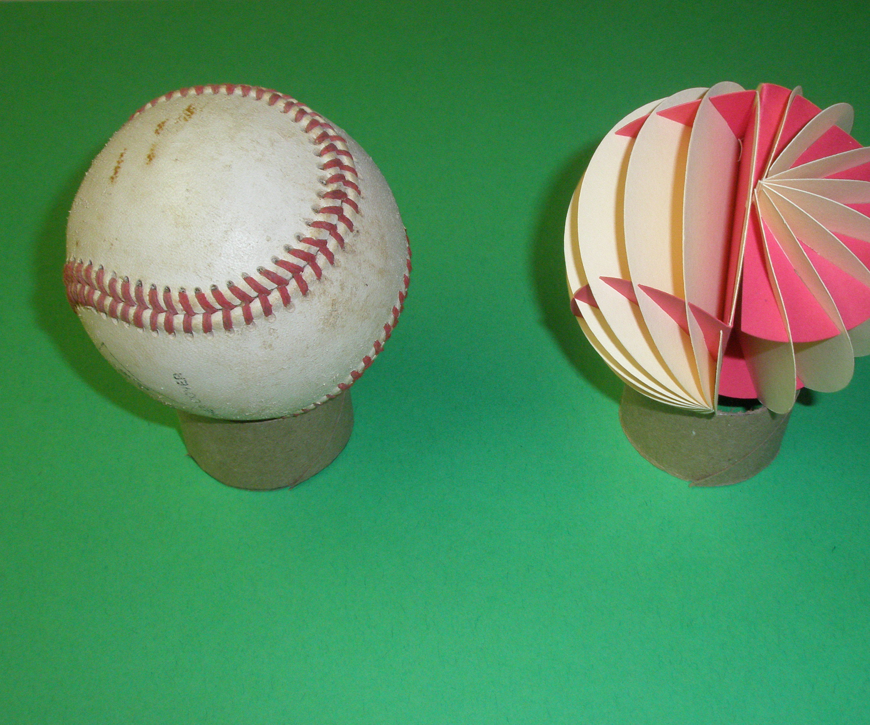 Paper Baseball Stitch Path