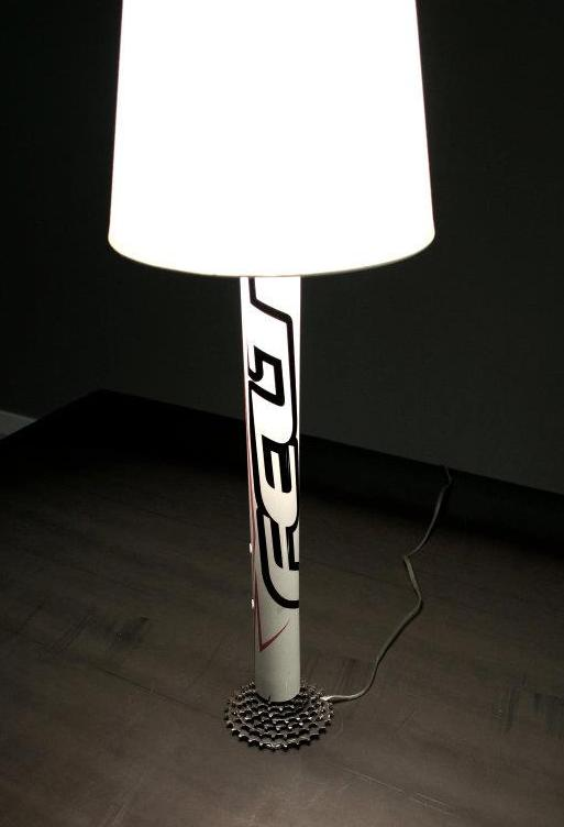 Dark Time for my Bike becomes Light for my Office....Meet...the Upcycled Bike Lamp