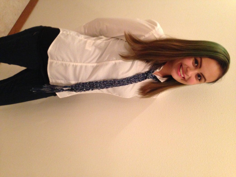Quick Gift Crochet Skinny Scarf Tie
