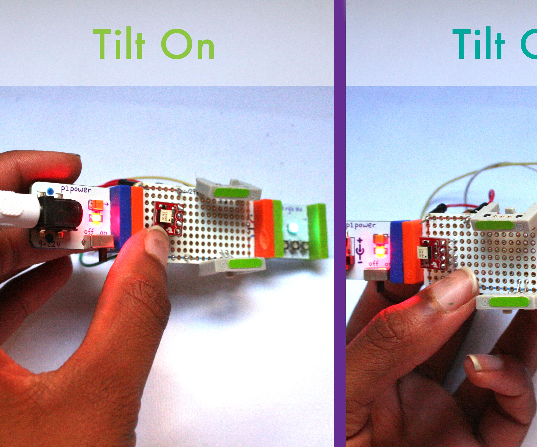 Using the Littlebits HDK to build a Tilt Sensitive Module