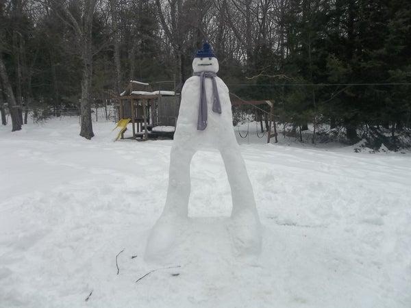 Snowman on Legs