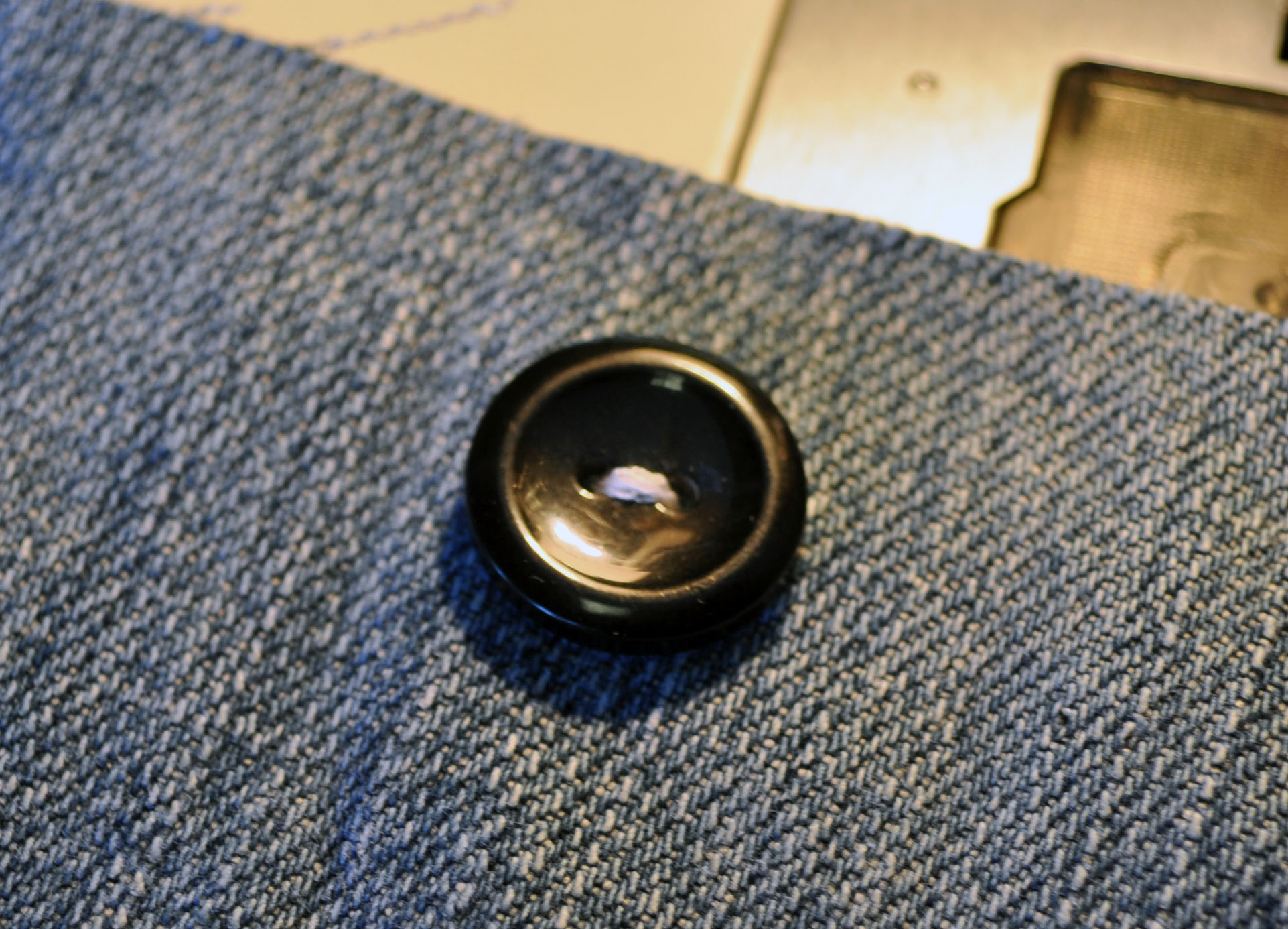 Sew on a Button by Machine